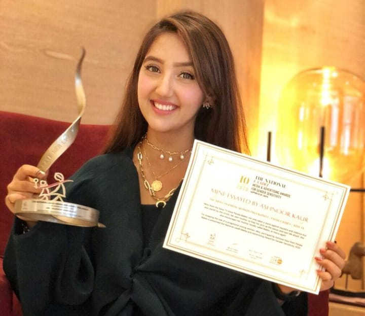 Ashnoor Kaur Awards Won